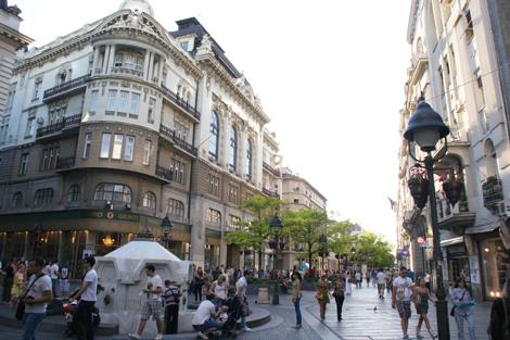 Belgrad kävelykatu Knez Mihailova