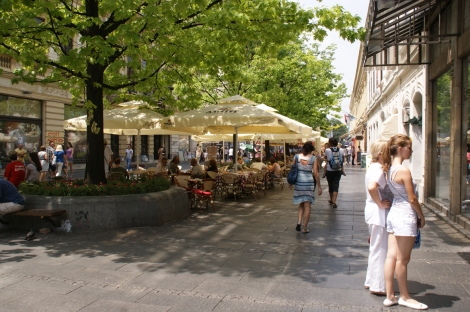 Knez Mihailova, kävelykatu Belgrad Serbia
