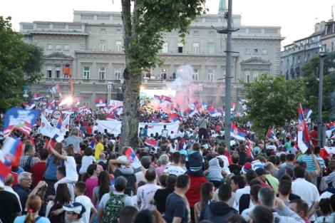 Belgradin kaupungintalo 22.6.2015 klo 20.