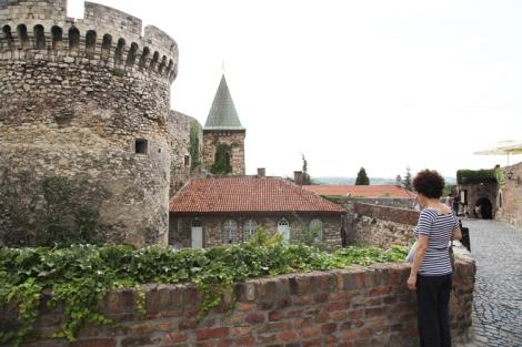 Kalemegdan puisto ja linnoitusalue Belgrad.