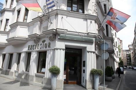Hotelli Excelsior Belgrad sijaitsee hyvällä paikalla keskustassa.