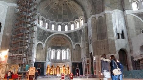 Pyhän Savan kirkko on vielä rakenteilla Belgradissa.