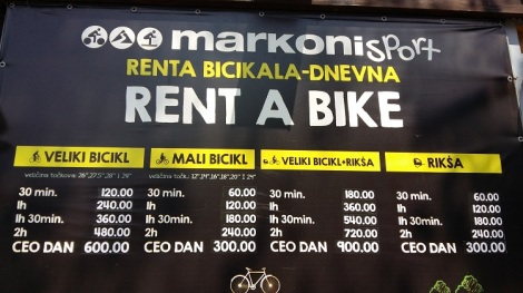 Rent a Bike in Belgrade Ada