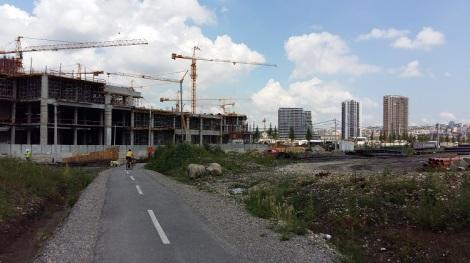 Belgrade Water Front rakennustyömaa kesä 2019.